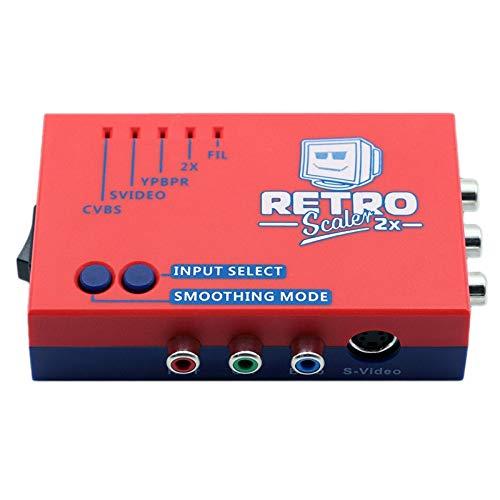 YanYun A / V zu Konverter und Linie-Doppler für Ps2 / N64 / Nes / Sega Dreamcast / Saturn / Md1 / Md2 Retro Spiele Konsolen