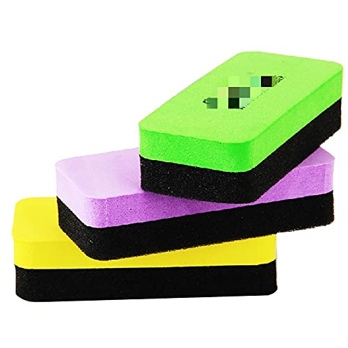 Borrador magnético 1 PCS 110 mm x 50 mm x 30 mm de alta calidad Blanco Magnético Borradores Borradores DryWipe Marker Cleaner School Office Whiteboard Removedor de manchas (Color : Random)