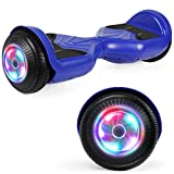 UNI-SUN Hoverboard for Kids, 6.5' Self Balancing Hoverboard with Bluetooth and LED Lights, Bluetooth Hover Board,Blue Hoverboard