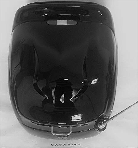 Roller Motorroller Retro schwarz 40 L TOPCASE mit Antenne GEPÄCK Koffer Scooter