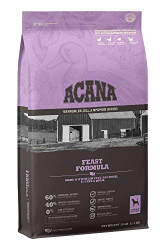 ACANA Heritage Dry Dog Food, Feast, Biologically Appropriate & Grain Free