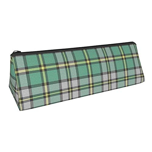 Cape Breton Tartan - Bolsa de almacenamiento triangular para bolígrafos de pequeña capacidad para niños y niñas, colegio, escuela secundaria, oficina, alicates de papelería