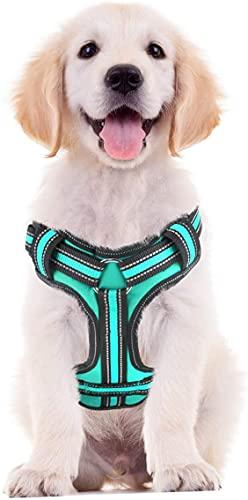 NIUBICLAS Arnés para perro, arnés para mascotas sin tirar, chaleco ajustable y acolchado suave, chaleco reflectante para mascotas Oxford con mango de fácil control para perros medianos y grandes