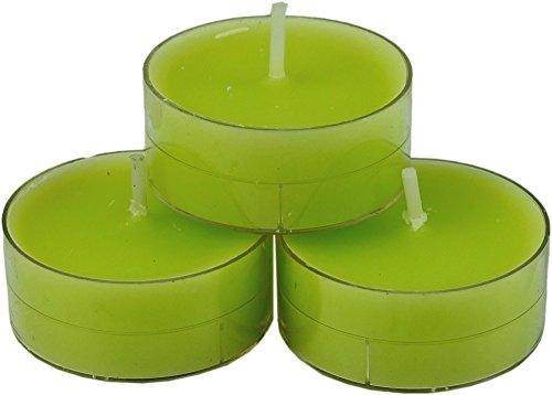 nk candles 20 dänische Teelichter farbig durchgefärbt, Auswahl, von Nordlicht-Kontor (Limette - Hellgrün)