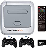 Super Console X Pro,Retro Video Game Consoles,Built in 50,000+ Games,54+ Emulators for 4K TV HD/AV Output,with Dual Wireless 2.4G Controllers Gamepads,Support WIFI/LAN,Up to 5 Players (Pro 256G)