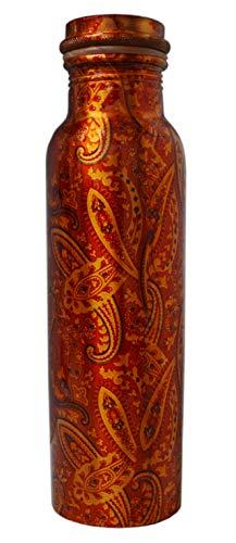 Zap Impex Travellers reines Kupfer Wasserflasche Rajasthani Design für ayurvedische Vorteile Wasser Krug Flasche Joint Free