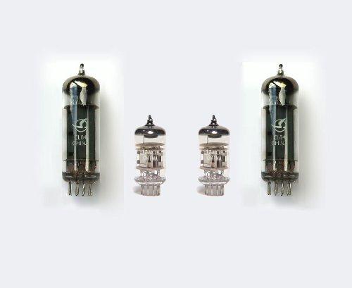 Jellyfish Audio EL84 - Juego de 2 válvulas para amplificador Ampeg Diamond Blue J-12T J12T