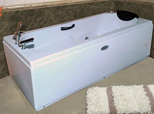 Bagno Italia Bañera de hidromasaje de 170 x 70 cm, doble bomba de aire y agua Full opcional.