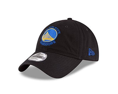 NBA Golden State Warriors Core Classic 9Twenty Adjustable Cap, Black, One Size
