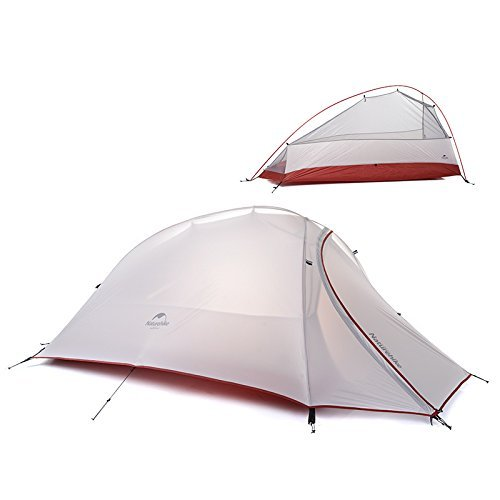 1 Person 4 Season Tent Double Skin 20D Silicone Fabric Super Lightweight Camping Tent (gray) by Camping Tent