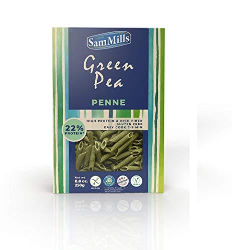 Sam Mills – Green Pea Pasta | Glutenfreie Nudeln aus grünen Erbsen | 250 g Packung Penne - Pasta aus Hülsenfrüchten