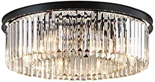 Runde Glas Deckenleuchte Moderne Minimalismus Rustikalen Stil Eisen Beleuchtung Decke Elegante Dekoration Kreative Licht für Restaurant Schlafzimmer Café Balkon Einkaufszentrum E14 * 8 F60 * 18 cm