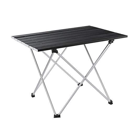 WJQ Aluminium Klapptisch - Tragbare Camping-Tische, Kochen und Brenner sind langlebig und leicht zu reinigen - Ideal für Picknick im Freien Kochen Strandwandern