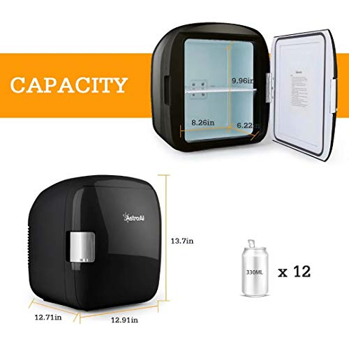 41pzat66rRL - AstroAI Mini Refrigerador Portátil para el Skincare 9L, Mini Neveras 220V/12V para Enfriar y Calentar (negro)