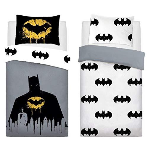 Ghazlan  Batman Dark Knight Duvet Quilt Cover Modern Bedding Set With Pillowcase (Single)