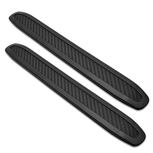 runmade Black Anti-Collision Patch Bumper Guard Strip Anti-Scratch Bumper Protector Trim Universal for Cars SUV Pickup Truck (2 Pack)
