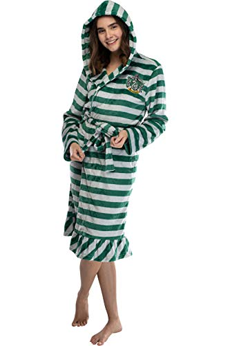 Harry Potter Juniors' Slytherin de Felpa con Capucha de Rayas túnica de Lana (LG)
