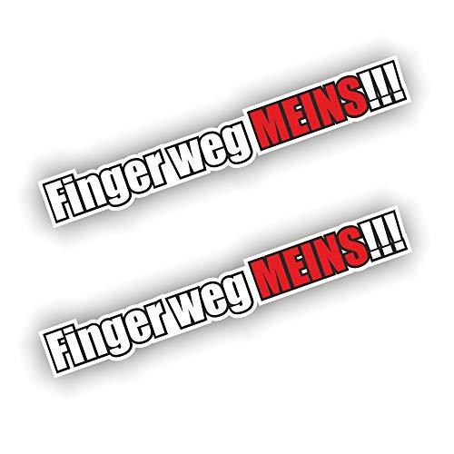 folien-zentrum 2X Finger Weg meins Aufkleber Shocker Hand Auto JDM Tuning Dub Decal Stickerbomb Bombing Sticker Illest Dapper Fun Oldschool