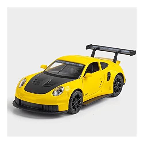 Vehículo a escala 1:32 para 911 RSR aleación fundida a presión modelo de coche deportivo juguete simulación luz de sonido juguetes de tracción hacia atrás vehículo para regalos de niños ( Color : C )