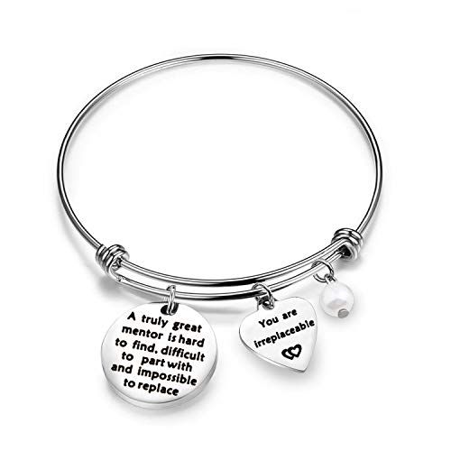 Coworker Leaving Gifts A Truly Great Mentor Is Hard To Find Difficult To Part With And Impossible To Replace Bracelet Goodbye Gifts For Best Coworker Colleague And Boss (truly great mentor bracelet)