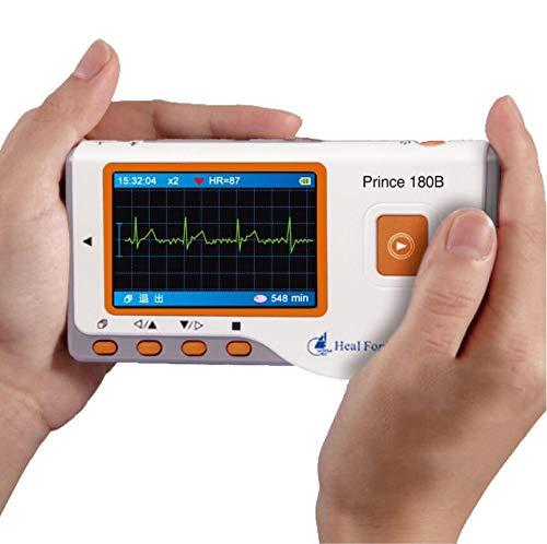 XKRSBS Monitor de ECG de Mano avanzado Mini Monitor de ECG LCD portátil Monitor de Salud