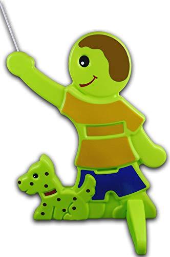 UvV 3D Warnaufsteller Spielende Kinder mit Hund- Fynn-Malte Brems Vorsicht Achtung Kinder Warnschild, Warnfigur (Wunschname, Texten) - grün, reflektierend - Sicherheit Kinder (Gelb)