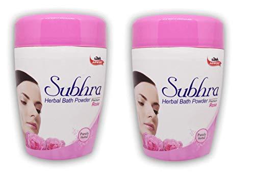 Aswini Subhra Rose Herbal Bath Powder 200gm - Pack of 2