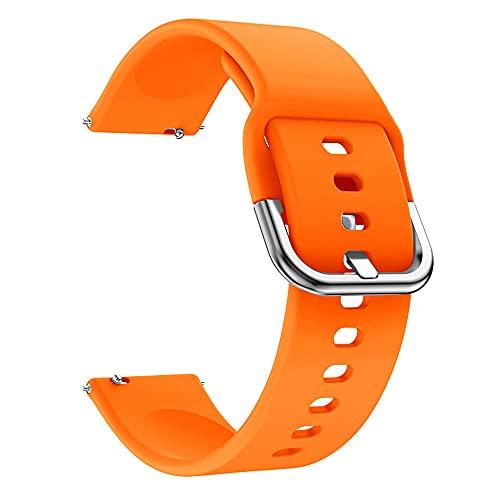 Compatible con Amazfit Bip S Lite Correa Silicona Deportiva de Repuesto 20mm Correa De Reloj De Repuesto con Hebilla de Metálica Ajustable Correa para Amazfit Bip S Lite (Naranja)