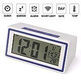 Alaso Réveil en Ligne,Reveil Matin,Réveil de Voyage, Réveil Digital Alarme Horloge Numérique Alarm Clock LCD avec...