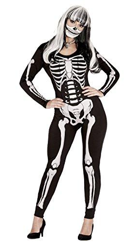 Guirca- Disfraz adulta skeleton, Talla 38-40 (88039.0)