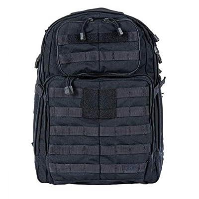 5.11 Tactical Rush24 Backpack, Water-Resistant, Adjustable Straps, 37-Liter Capacity, Dark Navy, 1 SZ, Style 58601