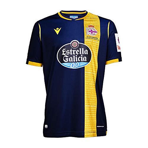 RC Deportivo Camiseta 2ª Equipación 2020/21, Unisex Adulto, Azul, L