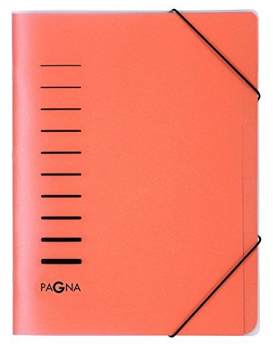 Pagna 40056-12 sorteermap 6-delig van polypropyleen, hoekelastiek, oranje gekleurd tabblad