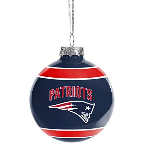 New England Patriots Glass Ball Ornament – Limited Edition Patriots Ornament – Represent The NFL and Show Your Team Spirit with Officially Licensed New England Football Holiday Fan Decoration