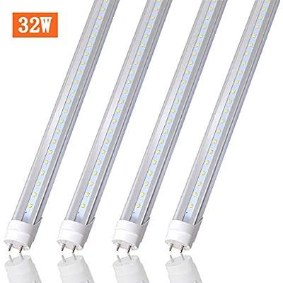 4FT LED Shop Light, T8 T10 T12 LED Tube Light 32W(60W Equivalent), 4160 Lumens,5000K Daylight, Clear Cover, Medium Bi-Pin G13 Base for Garage Warehouse Light ,4 Pack