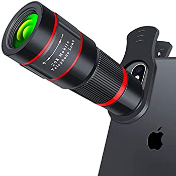 Cell Phone Camera Lens 20X Zoom Telephoto Lens HD Smartphone Lens for iPhone Samsung Android Monocular Telescope