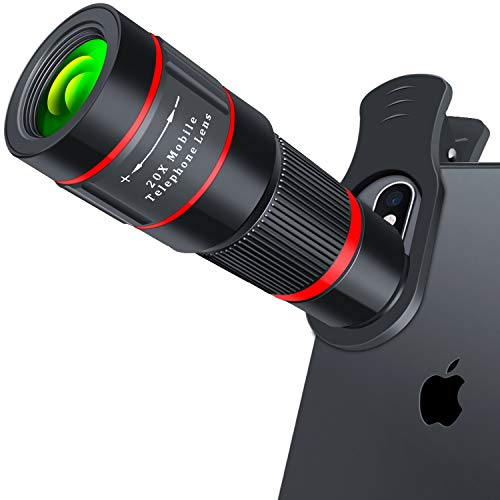 small Mobile phone camera lens, 20x telephoto lens, iPhone, Samsung, HD smartphone lens for Android, …