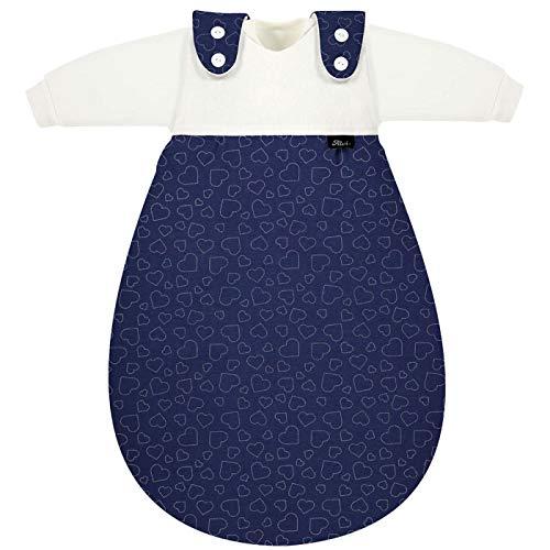 Alvi Baby Mäxchen Schlafsack 3-teilig Design Hearts Navy (Größe 74/80)