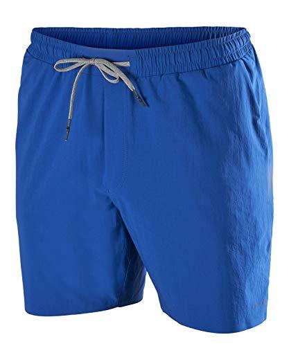 FALKE Herren Shorts Basic Challenger, Sport Performance Material, 1 Stück, Blau (Blue Lake 6455), Größe: S