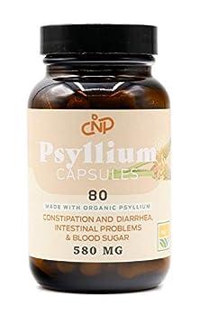 Pure Natural Whole Psyllium Husk Powder Capsules - 580mg Capsules 80 Pure Unflavored Fiber & Colon Cleanse Pills