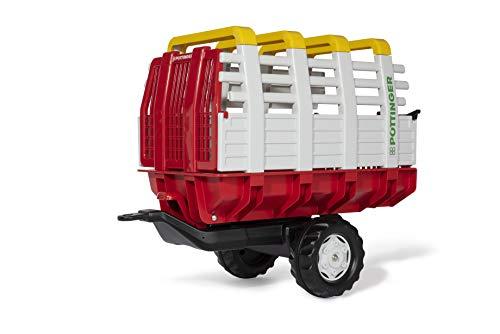 Rolly Toys 122479 rollyHaywagon Pöttinger Anhänger für Trettraktor (von 3-10 Jahre, Automatikverriegelung, kippbar)