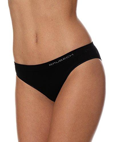 Brubeck 5x Set Comfort Cotton Damen Bikini Slip | Perfect Fit | Unterwäsche | Sport | Funktionswäsche | Baumwolle/Polyamid | Premium Qualität, BI10020A XL; Schwarz