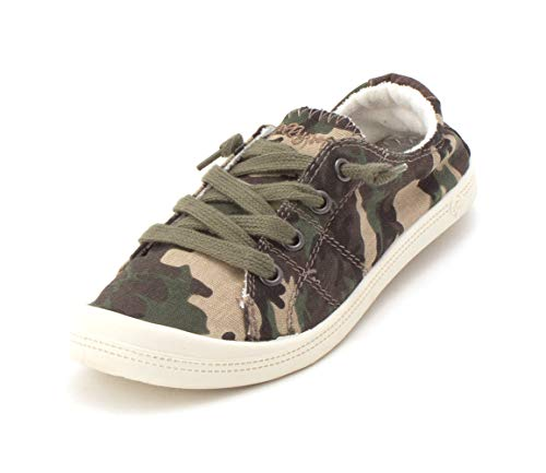 Jellypop Dallas Womens Slip On Sneakers Camouflage 8.5