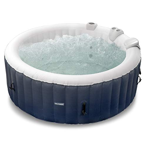 GALVANOX Inflatable Hot Tub, 4-6 Person Blow Up Portable Spa with Built-in Heater and Air Bubble Jets