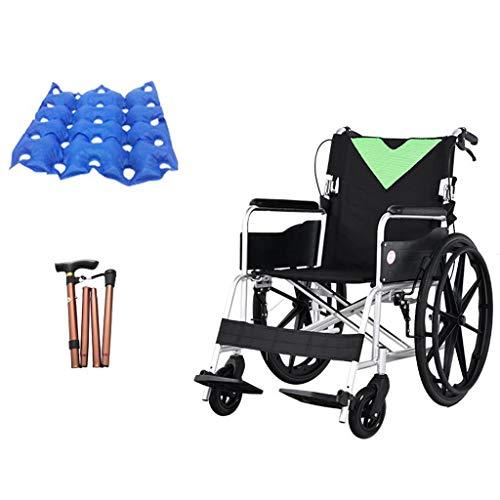 OCYE Travel licht transport stoel, compact ontwerp, opvouwbare pedalen, luxe aluminium rolstoel, perfect voor op reis, met opbergtas