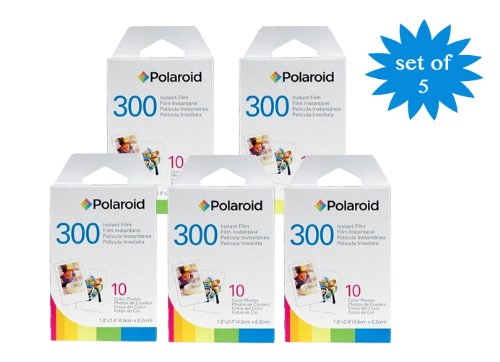 Polaroid PIF-300 Film instantané pour l'appareils de la série 300 - packs des 5
