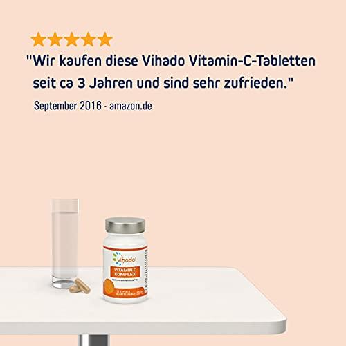 Vihado Vitamin-C hochdosiert – natürliches Vitamin C Kapseln (vegan) + Natur-Komplex mit Bioflavonoide, 30 Kapseln, 1er Pack (1 x 20,8 g) - 6