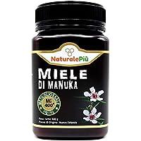 Miel de Manuka 400+ MGO 500g. Producida en Nueva Zelanda, activa y cruda, 100% pura y natural. Metilglioxial probado por laboratorios acreditados. NATURALEPIÙ