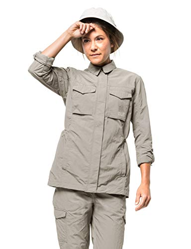 Jack Wolfskin Damen Fleecejacke Lakeside Field, dusty grey, M, 1305971