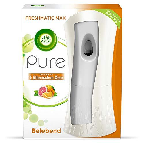 Air Wick Freshmatic Max PURE – Starter-Set mit Gerät und 1 Nachfüller – Batteriebetrieben – Duft: Belebend – 1 x 250 ml Nachfüller + Gerät in Weiß